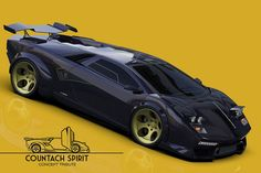 An amazing, modern concept of a Lamborghini Countach inspired concept car Luxury Sports Cars, New Sports Cars, Exotic Sports Cars, Sport Cars, Exotic Cars, Lamborghini Photos, Lamborghini Cars, Lamborghini Diablo, Lamborghini Gallardo