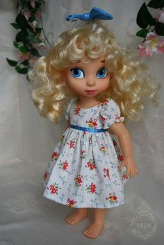 Disney Animation Doll Love the little dolly dress Cinderella Doll, Disney Princess Dolls, Disney Dolls, Baby Doll Clothes, Doll Clothes Patterns, Newberry Dolls, Girl Dolls, Baby Dolls, Disney Animators Collection Dolls