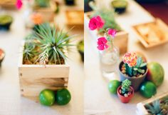 mexican fiesta floral arrangements- We could keep it small and simple and do something like this