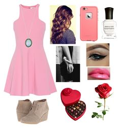 """""""Happy Valentine's Day"""" by amarianamichelle ❤ liked on Polyvore featuring Elizabeth and James, TOMS, LifeProof, Deborah Lippmann, Armenta, Godiva, women's clothing, women, female and woman"""