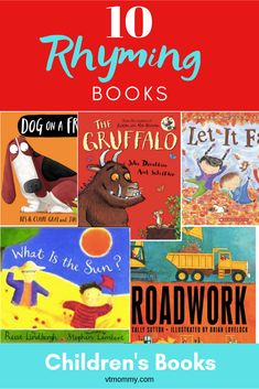A detailed list of ten interesting children's picture books, which utilize rhyming. Includes both fiction and nonfiction texts. Barnyard Dance, Giraffes Cant Dance, Literary Elements, Responsive Classroom, Children's Picture Books, 10 Picture, Rhyming Words, Fiction And Nonfiction, Free Math