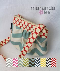 Mini Mama bag in CUSTOM Chevron and Accent  Little by marandalee, $22.00