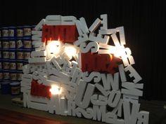 Foam letters - Making sense of the strategic direction.