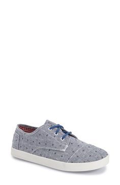 TOMS 'Paseo - Chambray Flower' Sneaker (Women)