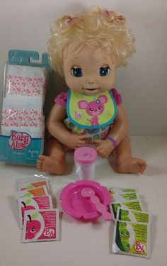 Hasbro 2006 Soft Face Interactive Baby Alive Doll with Accessories Baby Dolls For Kids, Toys For Girls, Kids Toys, Baby Kids, Baby Alive Food, Baby Alive Dolls, Baby Doll Diaper Bag, Baby Doll Nursery, Babies Rooms