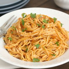 Chicken Enchilada Spaghetti by Tracey's Culinary Adventures\