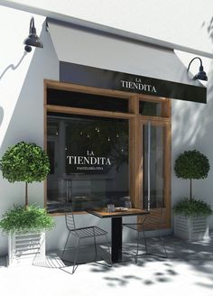 restaurant fachada This particular photo is surely an inspiring and high-quality idea Bar Restaurant, Restaurant Design, Facade Design, Exterior Design, Design Design, Front Design, Bakery Shop Design, Store Design, Cafe Exterior