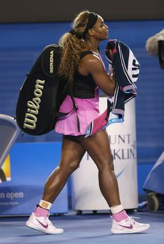 JANUARY Grand Slam Champion Serena Williams debuted her ankle-supporting sneaks at the Australian Open last Australian Open) Serena Williams Alexis, Serena Williams Photos, Serena Williams Tennis, Venus And Serena Williams, Tennis Clothes, Tennis Outfits, Celebrity Singers, Glam Slam, Senior Photos Girls