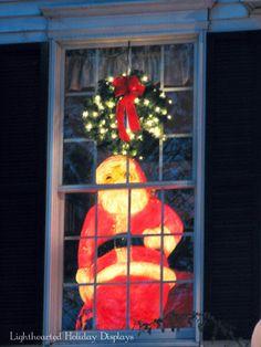 Vintage large blowmold Santa.