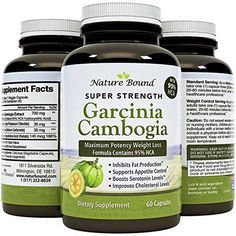 95% Garcinia Cambogia Extract – Pure HCA – Energy, Focus & Weight Loss Supplement – Works Fast for Women and Men – Appetite Suppressant for All Diets -USA Made by Nature Bound, 60 Capsules(Pack of 1) #vitaminB #vitaminD #instafollow #vitaminC #L4L