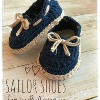 Items similar to Crochet Baby boy sailor shoes, baby loafers on Etsy Resultado de imagen para Free Crochet Baby Sailor Hat Pattern/etsy*com You will love this Crochet Moccasins Tutorial and we have a free pattern, video tutorial plus show you how to make Crochet Baby Boy Hat, Crochet For Boys, Crochet Shoes, Crochet Baby Booties, Crochet Slippers, Crochet Beanie, Crochet Clothes, Baby Knitting, Free Crochet