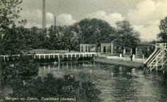 Bergen op Zoom: Het oude zoutwaterzwembad in 1928