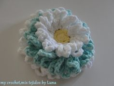 My Crochet, My Fabric: Daisies, 3 in 1 ... / daisys 3 in 1 and its pattern