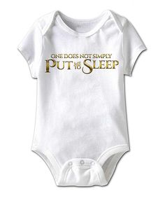 White 'Put Me to Sleep' Bodysuit - Infant