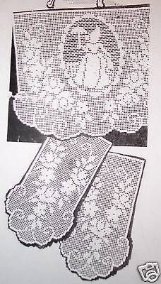 Rose in bloom chair set vintage filet crochet pattern for download 7520 vintage filet crochet chair set pattern reprint dt1010fo