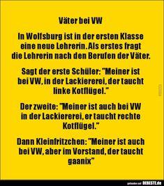 Väter bei VW.. | Lustige Bilder, Sprüche, Witze, echt lustig