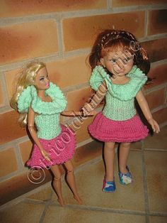 tuto-Barbie-Cheries- tuto chez :  http://tricotdamandine.over-blog.com/tag/madeleine%20ou%20poupees%20%22cheries%22/