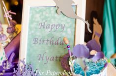 Tiny details add to the look of this  mermaid themed party