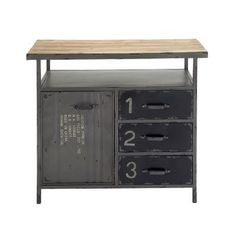 FREE SHIPPING! Shop AllModern for Woodland Imports Metal Wood Utility Cabinet - Great Deals on all  products with the best selection to choose from!