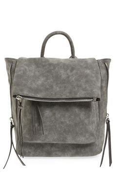 Need this instead of a tote bag for kids. Phase 3 Angle Zip Faux Leather Backpack available at #Nordstrom