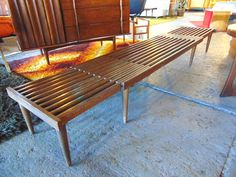 Expandable Slat Coffee Table