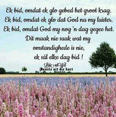 Lekker Dag, Afrikaanse Quotes, Living Water, True Words, Prayers, Encouragement, Bible, God, Christianity