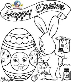 Thomas The Train Bunny Easter Chocolates Egg Coloring Page For Kids Easter Coloring Pictures, Free Easter Coloring Pages, Creation Coloring Pages, Jesus Coloring Pages, Train Coloring Pages, Fish Coloring Page, Princess Coloring Pages, Easter Colouring, Disney Coloring Pages