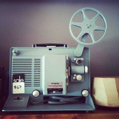 Very Nostalgic for me! And I still love the clickity-clickity-clickity sound they make! Cinema Camera, Movie Camera, Old School Film, 8mm Film, Movie Projector, Home Movies, Vintage Images, My Childhood, Horror Movies
