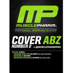 #MP Workout of the Day! Cover Abz 2 Workout by @MusclePharmPres Powered by #Combat