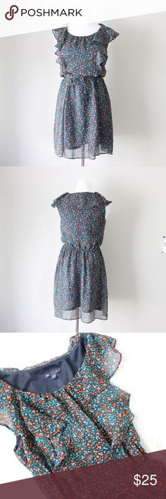 Gap Floral Printed Ruffled Sleeveless Dress Gap elastic waist ruffled sleeveless printed dress.  Fits true to size.  Shown on a size 4/6 mannequin.  In gently used condition, no flaws.  Measurements available upon request.  All orders shipped same or next business day! GAP Dresses