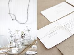 Simple and natural wedding ideas || Paper goods and styling by Follow Studio // Flowers by Melinda Tualima // Photographed by Lauren Michelle
