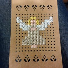 Latest Trend In Embroidery on Paper Ideas. Phenomenal Embroidery on Paper Ideas. Tiny Cross Stitch, Cross Stitch Angels, Cross Stitch Cards, Cross Stitch Designs, Cross Stitch Patterns, Stitching On Paper, Cross Stitching, Cross Stitch Embroidery, Cross Stitch Christmas Ornaments