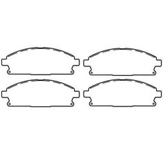 Brake Pads, Rear; 99-04 Jeep Grand Cherokee WJ