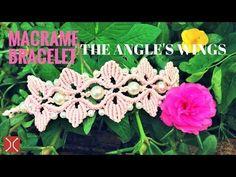 DIY macrame bracelet - the wings of angel - easy tutorial by tita - YouTube