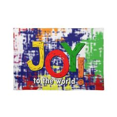 """Joy to the world! Placemats 20"""" x 14"""""""