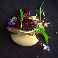 """2,973 Likes, 11 Comments - Chef's Roll, Inc. (@chefsroll) on Instagram: """"Smoke duck and black Doris plum - by @phils_kitchen_nz -#chefsroll #rollwithus"""""""