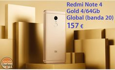 Offerta - Redmi Note 4 Global Gold 4/64Gb a 157€ spedizione Italy Express inclusa #Xiaomi #Ns1 #Offerta #Phablet #Redmi #RedMiNote #RedmiNote4 #Xiaomi https://www.xiaomitoday.it/?p=16171