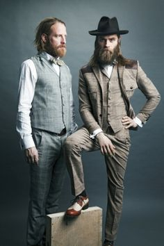 Hipster mountain man fashion