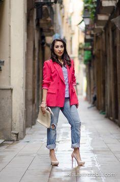 pink blazer....  http://klausstrofobia.com/
