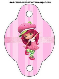 New Strawberry Shortcake - Full Kit with frames for invitations, labels for snacks, souvenirs and pictures! 3rd Birthday, Birthday Parties, Strawberry Shortcake Birthday, Pencil Toppers, Binder Covers, Disney Halloween, Coloring Book Pages, Doll Crafts, Minnie