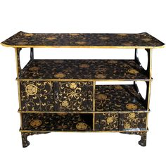 Meiji Period Lacquer Side Cabinet. Japanese Circa 1880 | From a unique collection of antique and modern cabinets at http://www.1stdibs.com/furniture/storage-case-pieces/cabinets/
