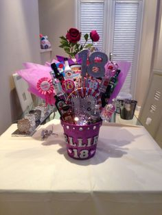 18th Birthday Gift Basket On The Back Of Each Numbered There