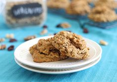Almond Cherry Protein Cookies by runningtothekitchen #Breakfast #Cookies #Cherry #Almond #runningtothekitchen