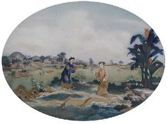 AN EXPORT REVERSE GLASS PAINTING, 18TH CENTURYhttp://www.christies.com/