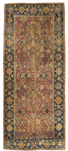 Isphahan carpet, Central Persia approximately 13ft. 6in. by 6ft. (4.11 by 1.83m.). First Half 17th Century