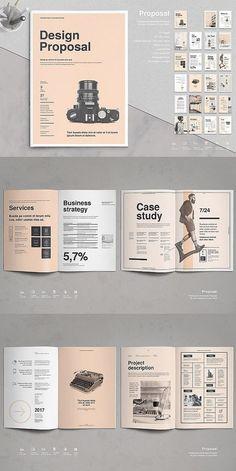 Proposal Vol. - Proposal Vol. 8 – design proposal template # Brochure t - Design Brochure, Graphic Design Layouts, Book Design Layout, Print Layout, Book Cover Design, Brochure Template, Corporate Brochure, Book Design Templates, Word Template Design