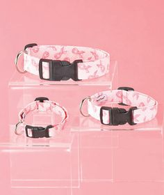 Breast Cancer Awareness Ribbon Pet Collars|The Lakeside Collection