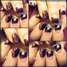 black hearts #nail #nails #nailart