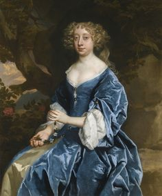 Lely, Sir Peter - PORTRAIT OF A LADY, IN A BLUE DRESS