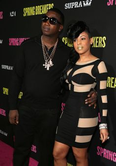 Gucci Mane and Keyshia Kaoir at Spring Breakers Premiere in Hollywood